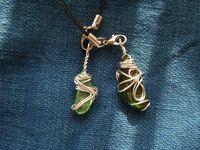緑系ガラスストラップ2種(裏)
