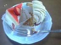 20070519半分ずつたべたケーキ