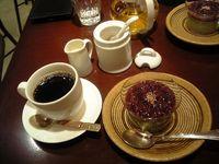 抹茶のムース&コーヒー&カモミールティー