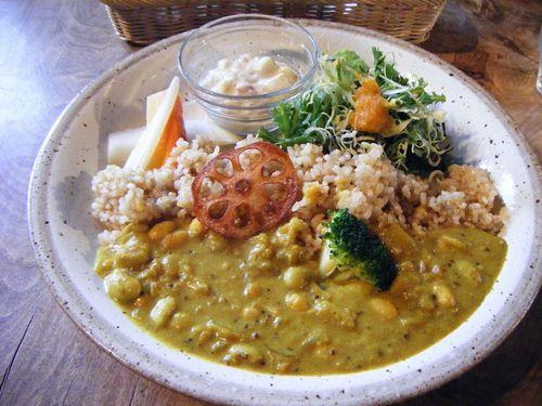 20090301「高橋さん家の大豆カレー ライス付き」