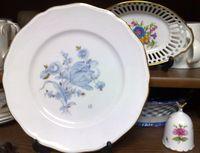 20090226ブルーフラワー皿・花の小物入れ・バラのベル